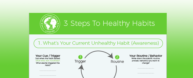 3 Steps To Healthy Habits [PDF Worksheet Download]